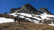 a quota 2600 m. incontriamo la prima neve (23-6-2013)