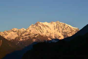 il Rosa dall'Alpe Briga ore 6.00