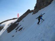 quasi in prossimità del Passo dei Ghiacciai (neve bella dura)