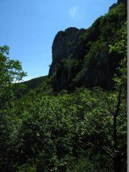Il versante nord della Rocca Barbena