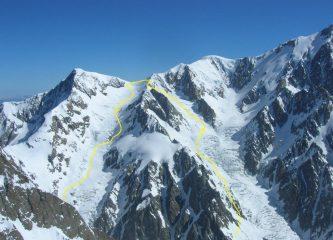 Il percorso visto dall'Aig. de Trelatete (giugno 2010)