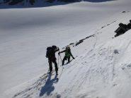 Sul ghiacciaio in alto