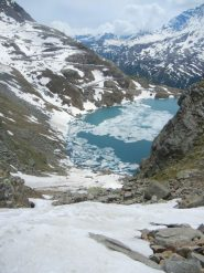 Canale su lago Agnel