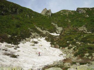 Salita verso la cresta spartiacque Orco-Lanzo