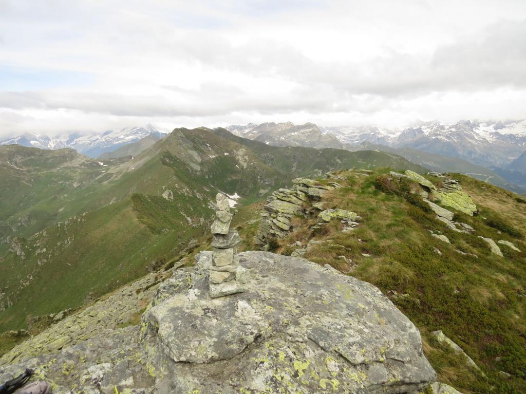 Monte Croass e la cresta spartiacque