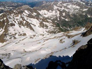 La balma Ghiliè dalla cima
