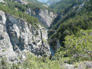 Il turistico Pont du Diable, serve da collegamento tra i vari settori sulle 2 sponde della gola