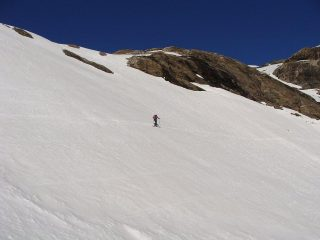il traverso sotto il ghiacciaio