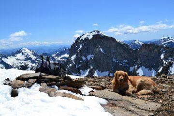 Zeus in vetta alla Punta Clogstafel, con il Giove sullo sfondo