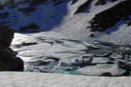 ancora ghiaccio sul lago nero