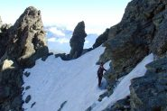oltre il colletto inizia la cresta di roccia