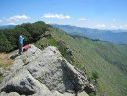 Il dirupato versante sud del M. Ramaceto