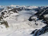 Dalla cima, monte Bianco in lontananza