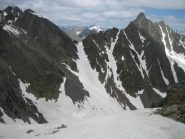 Pochi minuti dopo una scialpinista scivolerà nel canale del Col di Vens,