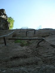 Ecco il gradino rotto... nel muro finale