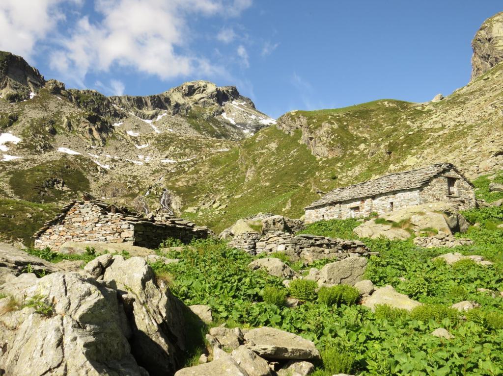 Alpe Ghiun e la Punta della Stamberna