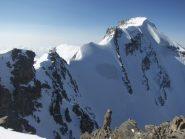 la cresta nevosa verso il Gran Paradiso