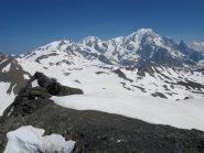 Panorama verso il Bianco dalla vetta