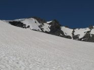 Dal Glacier d'Arguerey verso l'Aiguille de Veys