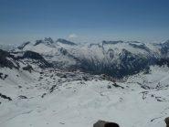 panorama verso le Levanne ed il ghiacciaio del Moulinet