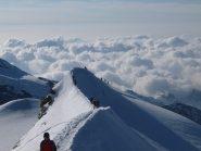 Cresta nevosa della via normale