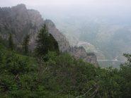 la rocca vista dal sentiero