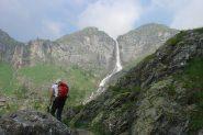 in vista della cascata