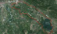 Viverone (lago) anello da Ivrea - percorso