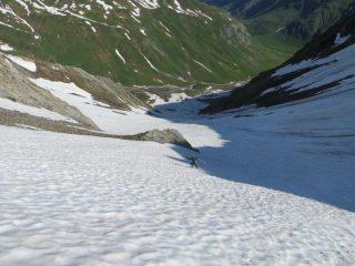 discesa dal Col Fourchon in Svizzera