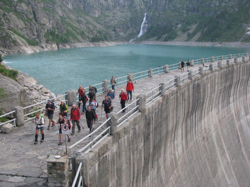 Alla partenza dalla diga del Teleccio
