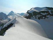 la cresta dalla punta Kurz verso il Mont Brulè