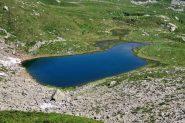Lago Panelatte visto dalla via di salita