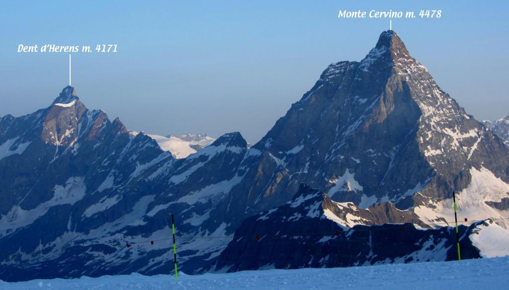 il Cervino osservato dal Colle del Breithorn (14-7-2013)