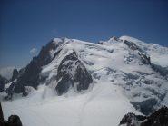 da sinistra Mont Blanc du Tacul, Mont Maudit e Monte Bianco