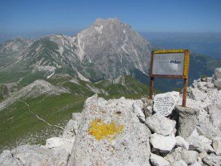 Corno Grande, visto dal Monte Brancastello