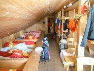 una camerata del rifugio