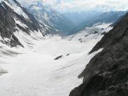 la Lotschental vista dal terrazzo del rifugio