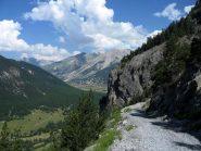 Valle Clarée dalla strada che porta a Plampinet.