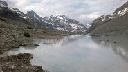 il lago sotto il rifugio