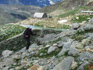 Proseguendo verso il ghiacciaio di Moncorvé