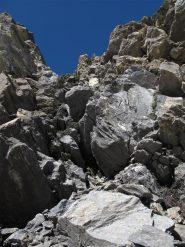 Canalino d'accesso al ghiacciaio