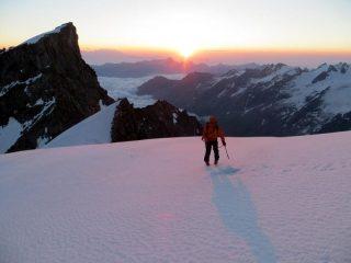Il sole sorge al colle di Montandaynè