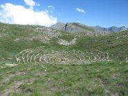 Singolare spirale in punta alla Tete de Jacquette.