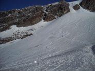 ghiacciaio d'Indren innevato