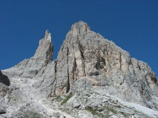 Panorama ai rifugi Preuss e Vajolet, le Torri del Vajolet