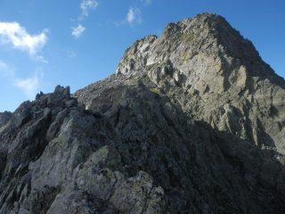 ultimo tratto di arrampicata alla Cima Bal