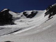 03 - poco oltre il colle, il Glacier du Gran Col e la salita al Mont Pourri