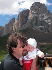 Al rifugio Friedrich August con papà