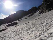 04 - nevai sotto il colle che porta nel vallone del ghiacciaio