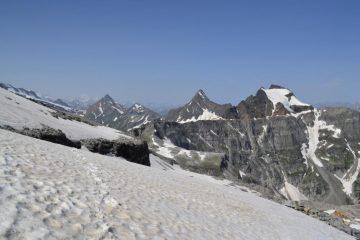 panorama su Rebbio e Mottiscia dal ghiacciaio